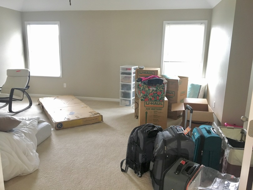 Moving Day - Master bedroom