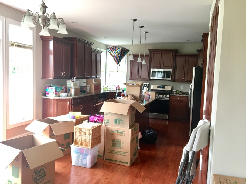 Moving day kitchen