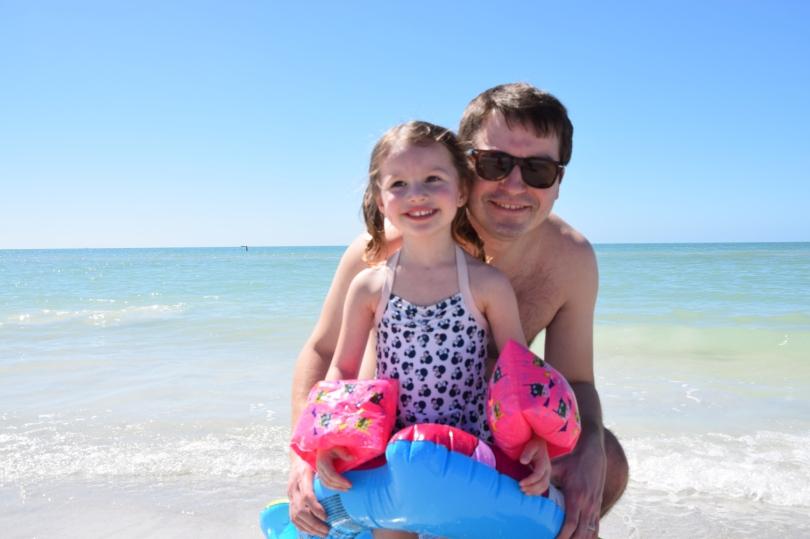 Treasure Island Beach with Dad